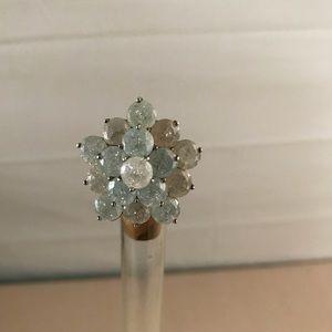 Vintage Stunning multicolored crystal gems ring